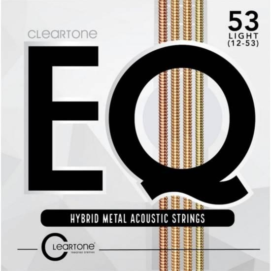 Струны для акустической гитары Cleartone 7812 EQ Hybrid Metal Acoustic Light Strings 12/53