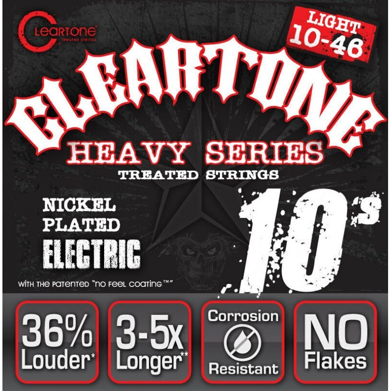 Струны для электрогитары Cleartone 9510 Monster Heavy Series Nickel-Plated Electric Light Strings 10/46