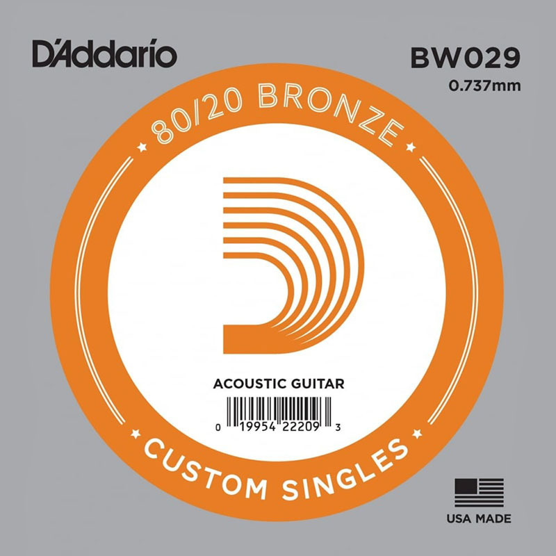 Струна D'Addario BW029 80/20 Bronze .029