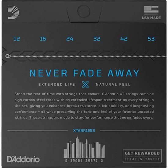 Струны для акустической гитары D'Addario XTABR1253 XT 80/20 Bronze Light 12/53
