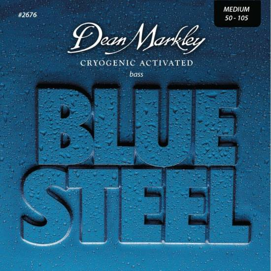Струны для бас-гитары Dean Markley 2676 Cryogenic Activated Bluesteel Medium 4-String Bass 50/105