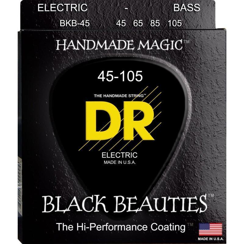 Струны для бас-гитары DR BKB-45 Black Beauties K3 Coated Medium Bass 4-Strings 45/105