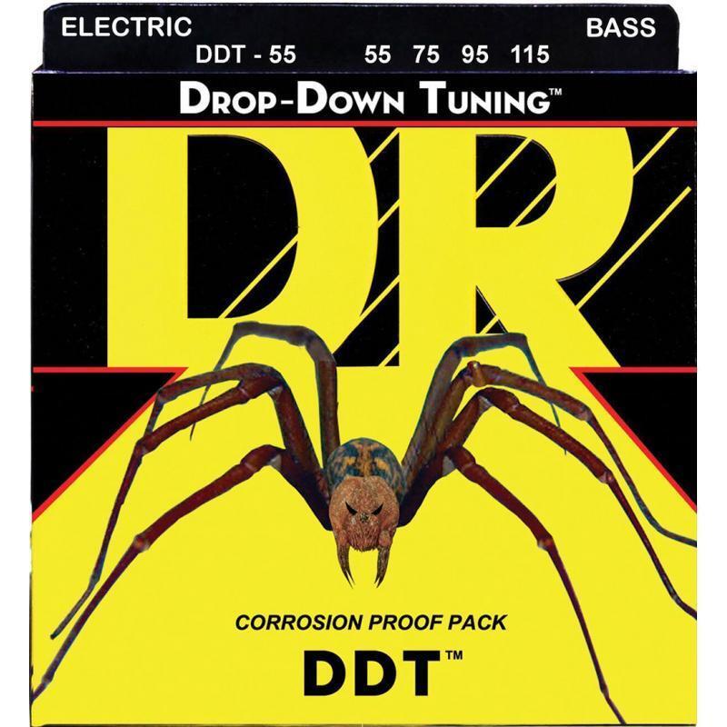 Струны для бас-гитары DR DDT-55 Drop-Down Tuning Heavy Bass 4-Strings 55/115