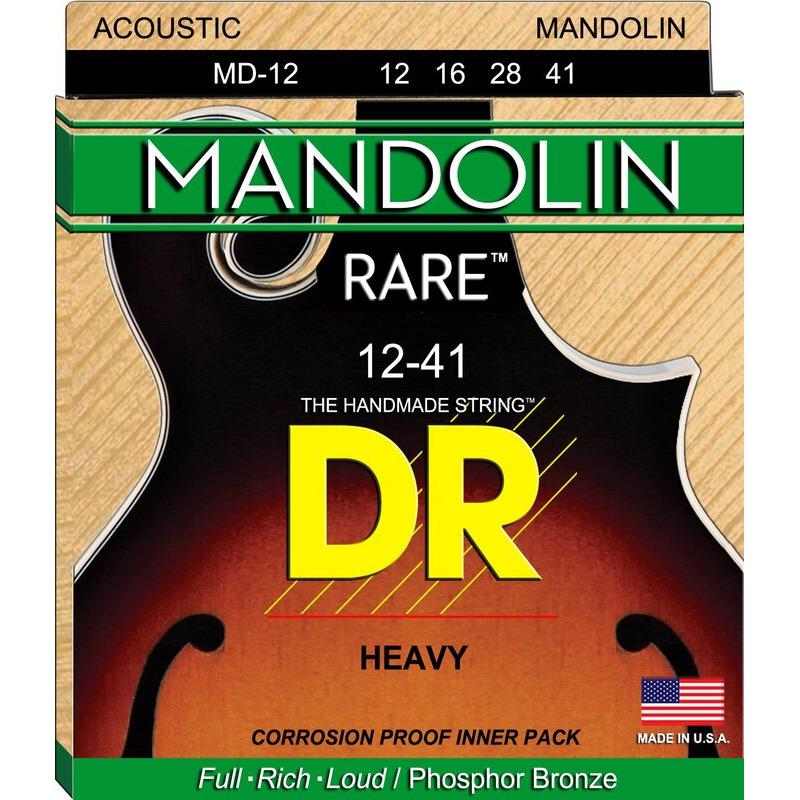 Струны для мандолины DR MD-12 Rare Phosphor Bronze Heavy Mandolin Strings 12/41