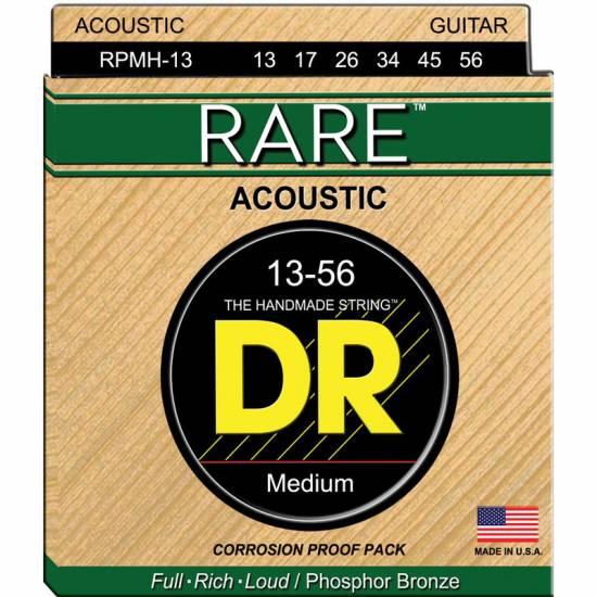 Струны для акустической гитары DR RPMH-13 Rare Phosphor Bronze Acoustic Guitar Strings Medium 13/56