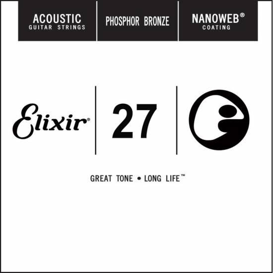 Струна Elixir 14127 Acoustic Nanoweb Phosphor Bronze .027
