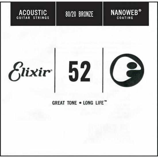 Струна Elixir 15152 Nanoweb 80/20 Bronze Acoustic .052