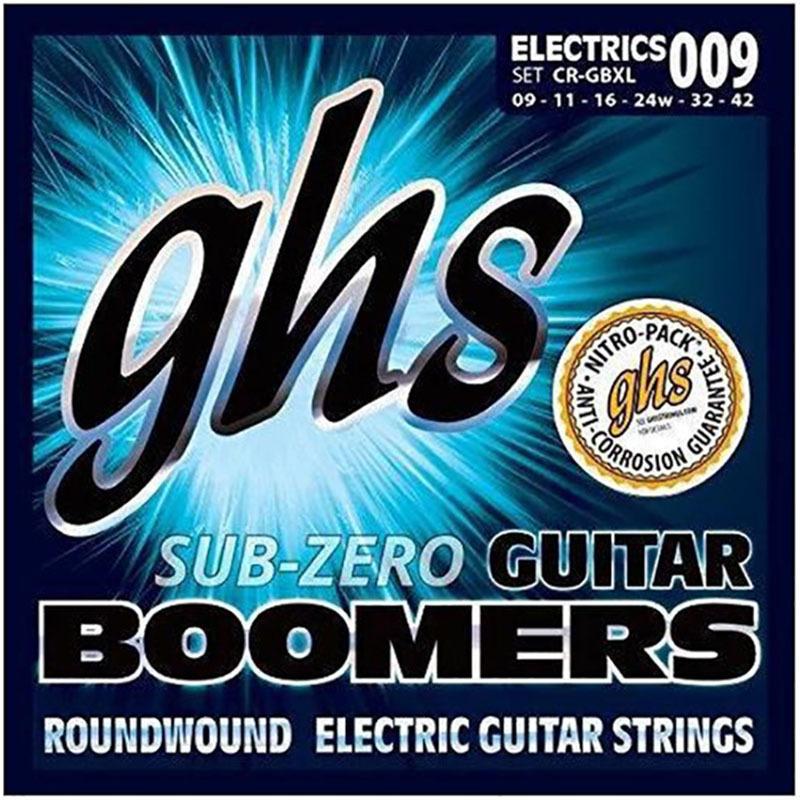 Струны для электрогитары GHS CR-GBXL Sub-Zero Boomers Extra Light Electric Guitar Strings 9/42