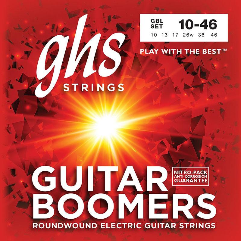 Струны для электрогитары GHS GBL Boomers Light Electric Guitar Strings 10/46