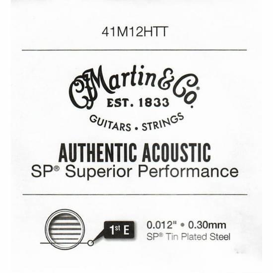 Струна Martin 41M12HTT Authentic Acoustic Tin Plated Plain Steel String .012