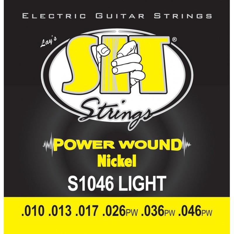 Струны для электрогитары SIT SITS1046 Light Power Wound Nickel Guitar Strings 10/46
